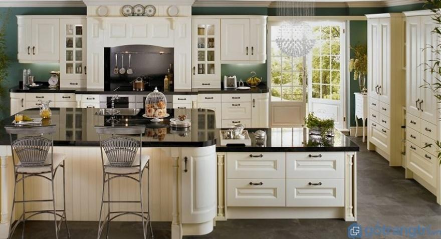Sự hiện đại của tủ bếp phong cách tân cổ điển - Ảnh: Internet