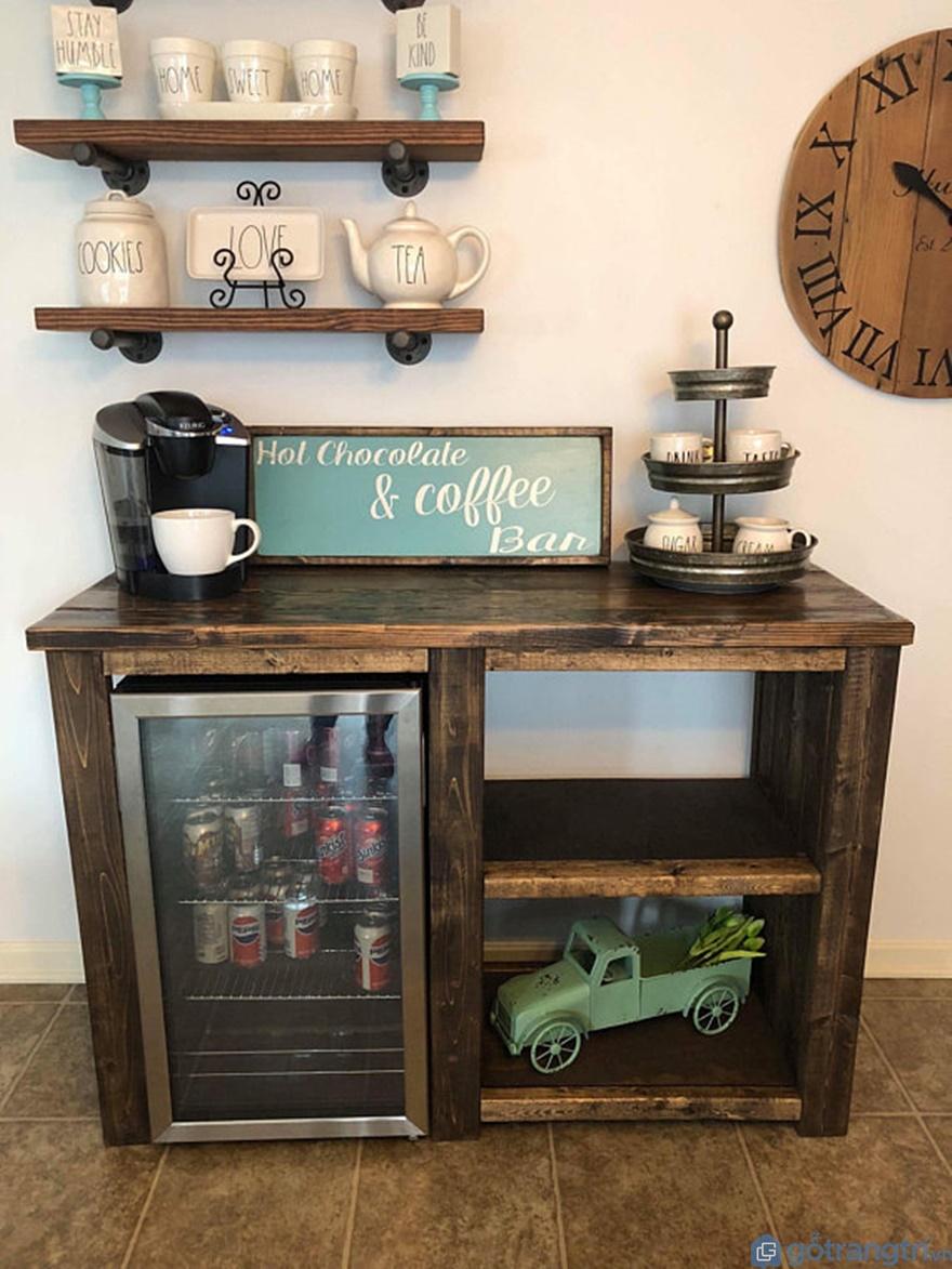 Tủ bếp phong cách tân cổ điển trệt nhỏ - Mẫu 01 (Ảnh: Internet)