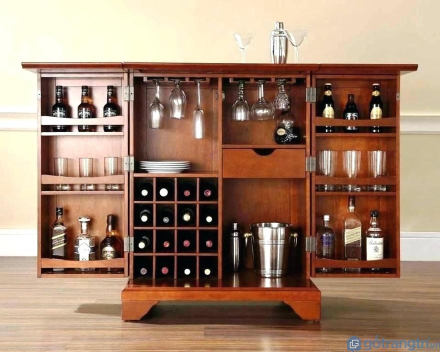 Tủ bếp phong cách tân cổ điển trệt nhỏ - Mẫu 02 (Ảnh: Internet)