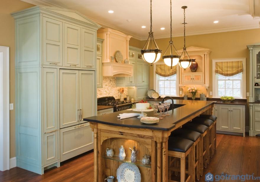 Tủ bếp phong cách tân cổ điển treo tường - Mẫu 04 (Ảnh: Internet)