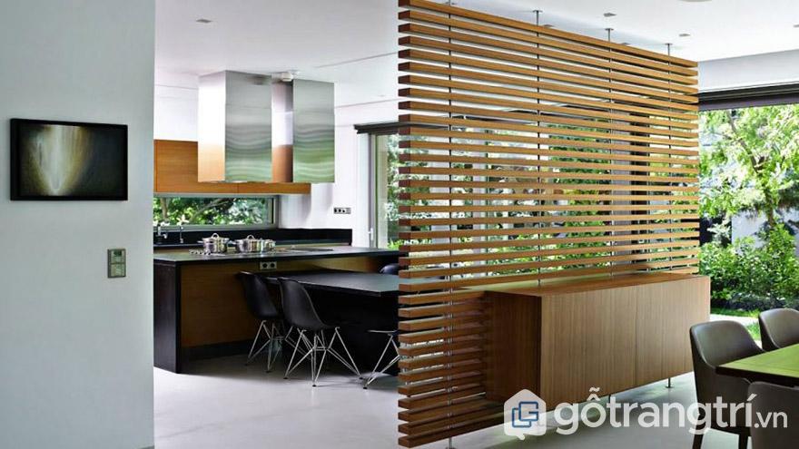 Ưu điểm của vách ngăn phòng khách bằng gỗ