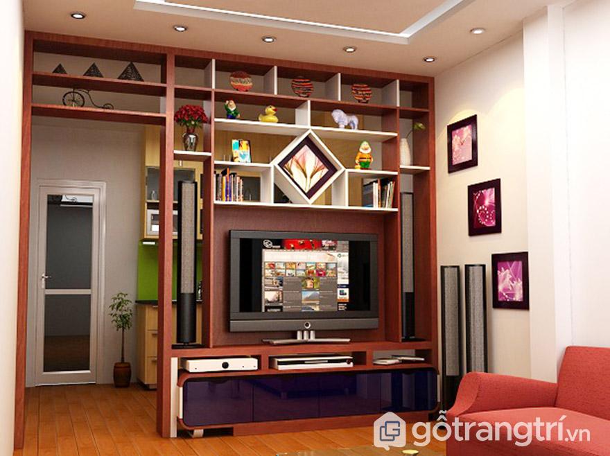 Vách ngăn gỗ tự nhiên cho phòng khách