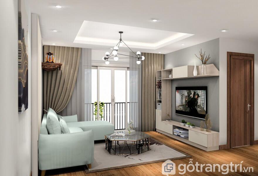 trang trí phòng khách chung cư