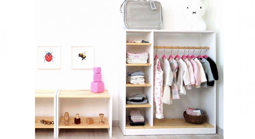 Mách mẹ bí quyết chọn tủ đựng đồ em bé đẹp, an toàn