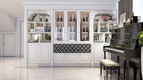 """Bí quyết chọn tủ rượu phòng khách gỗ """"chuẩn không cần chỉnh"""""""