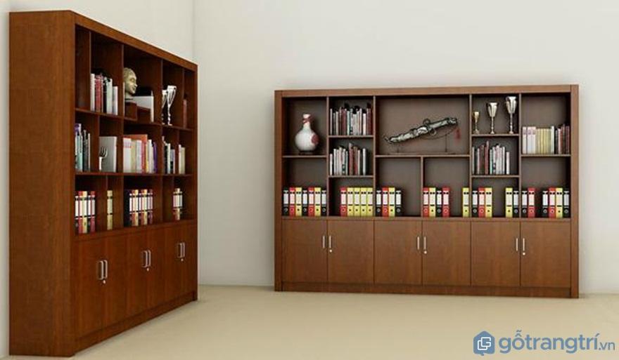 Tủ đựng tài liệu nhiều ngăn trưng bày tài liệu và đồ lưu niệm - Ảnh: Internet