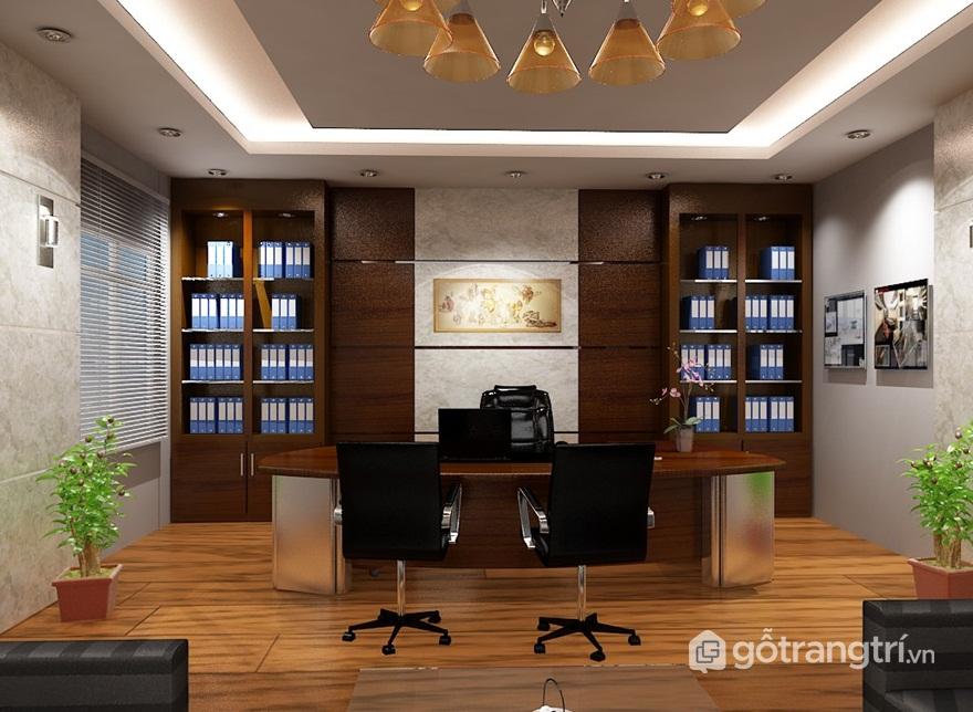 Tủ đựng hồ sơ văn phòng đẹp bằng gỗ - Mẫu 03