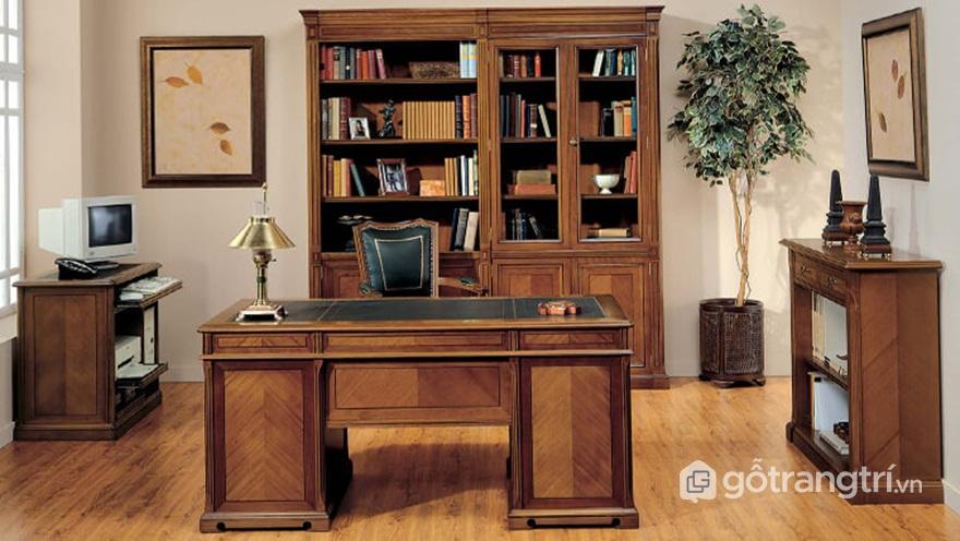 Tủ đựng hồ sơ văn phòng đẹp bằng gỗ - Mẫu 04