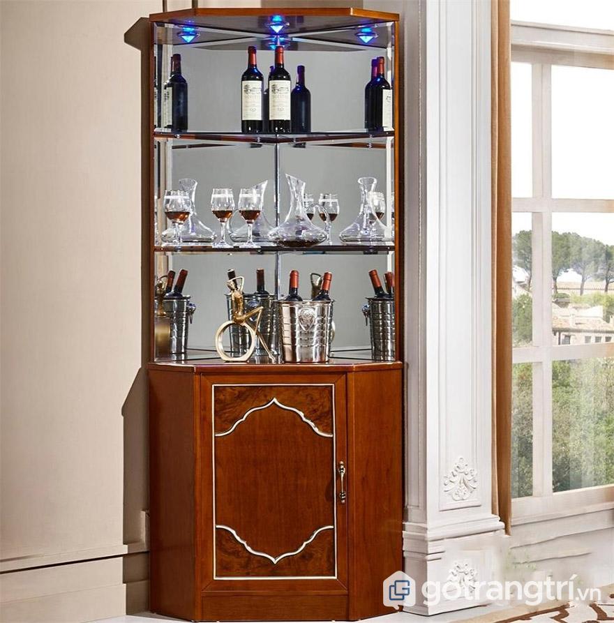 tủ rượu góc