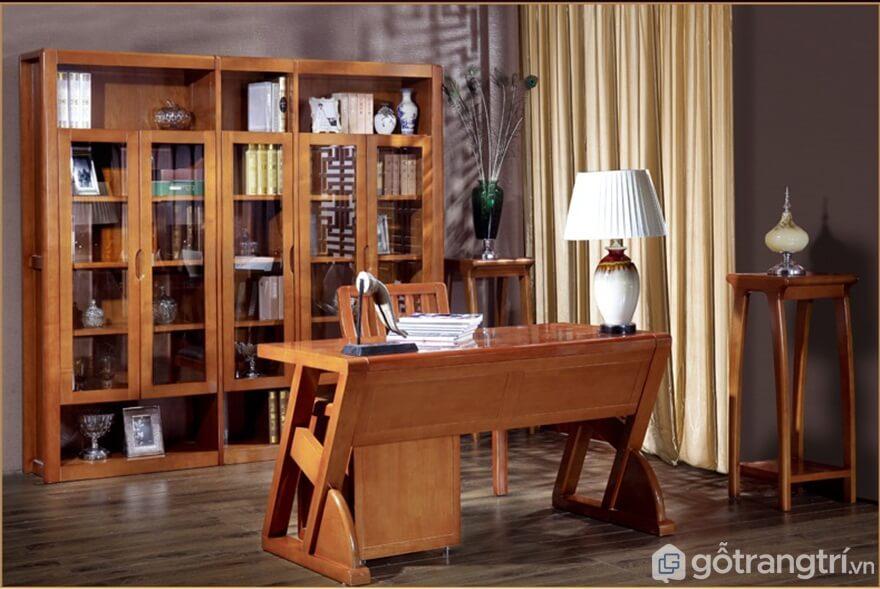 Tủ tài liệu gỗ tự nhiên trọng lượng lớn - Ảnh: Internet