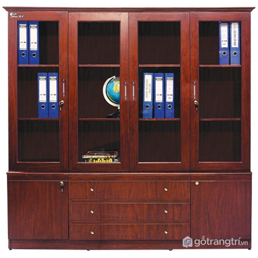 Tủ tài liệu làm bằng gỗ xoan đào - Ảnh: Internet