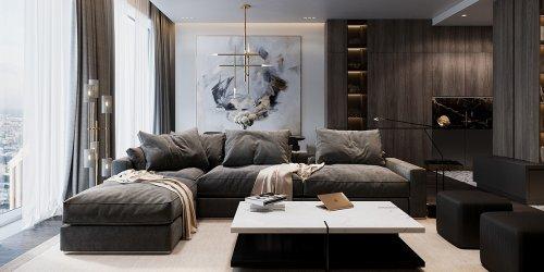 Thiết kế nội thất căn hộ 85m2 Kosmo Tây Hồ - Gotrangtri.vn