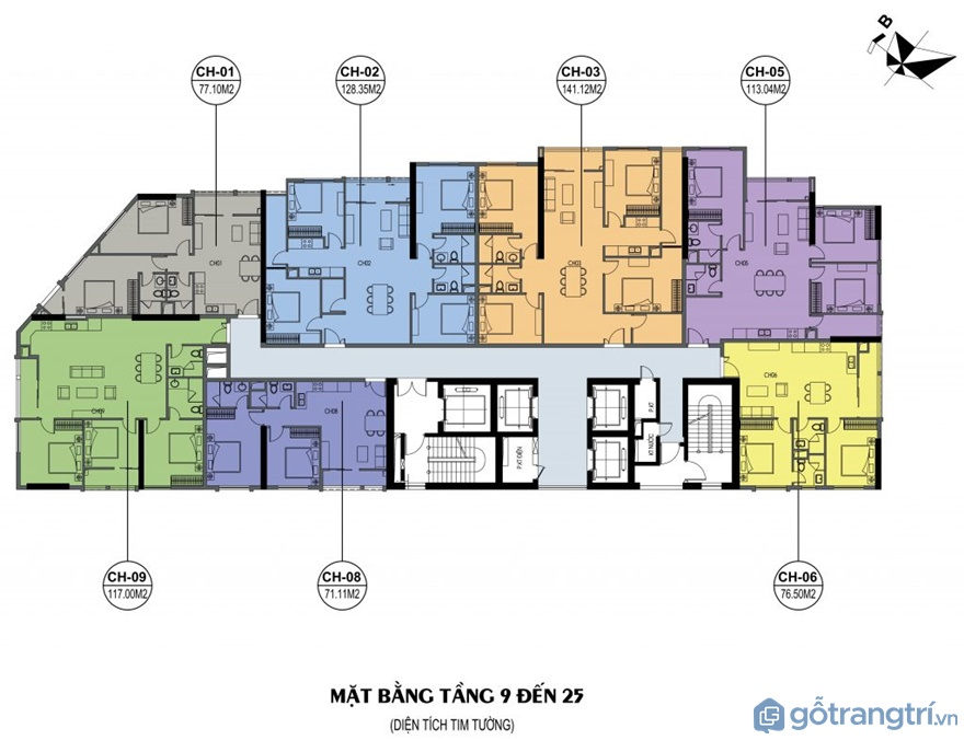 Thông tin chung căn hộ 4 phòng ngủ Luxury Park Views