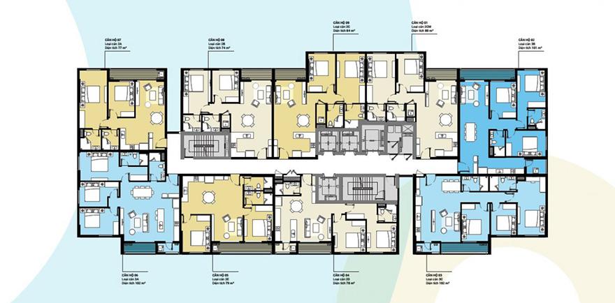 Mặt bằng căn hộ điển hìnhMặt bằng căn hộ điển hình