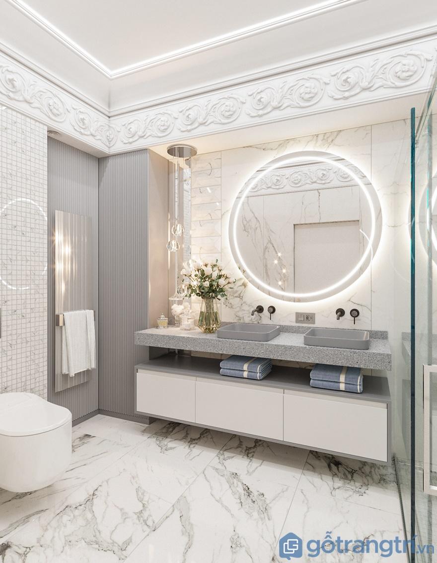 Phòng tắm được thiết kế không gian mở mang đến sự sạch sẽ, thoáng đãng cho căn phòng