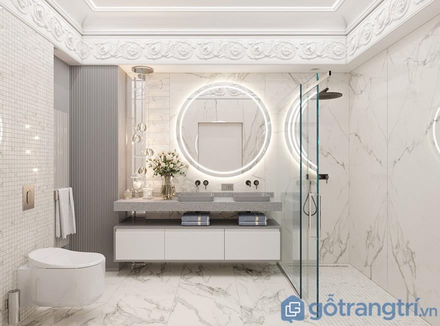 Đơn giản, hiện đại nhưng xa hoa là những tiêu chí hàng đầu trong thiết kế nội thất chung cư Sunshine City cho phòng tắm