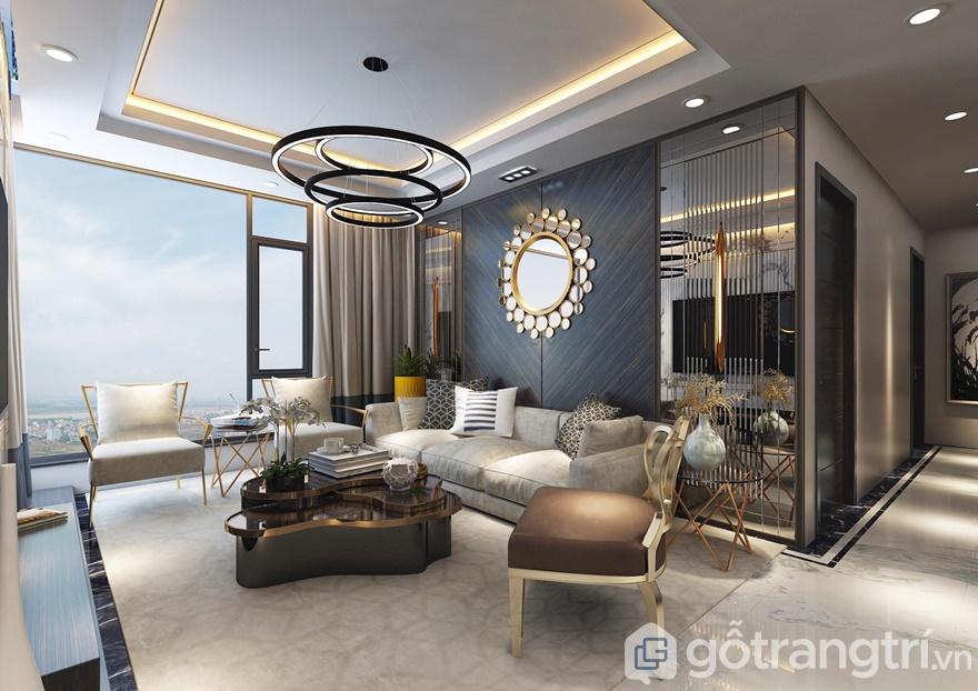 Phòng khách thiết kế phóng khoáng, rộng rãi với tầm view đẹp mắt