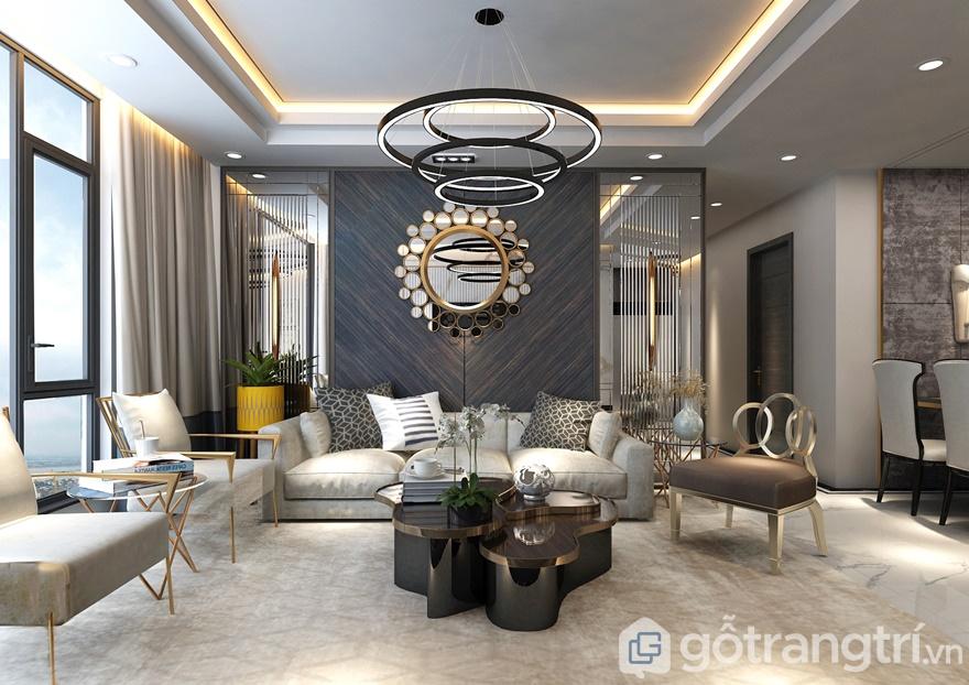 Thiết kế nội thất chung cư Sunshine City 85 m2, 1 phòng đa năng