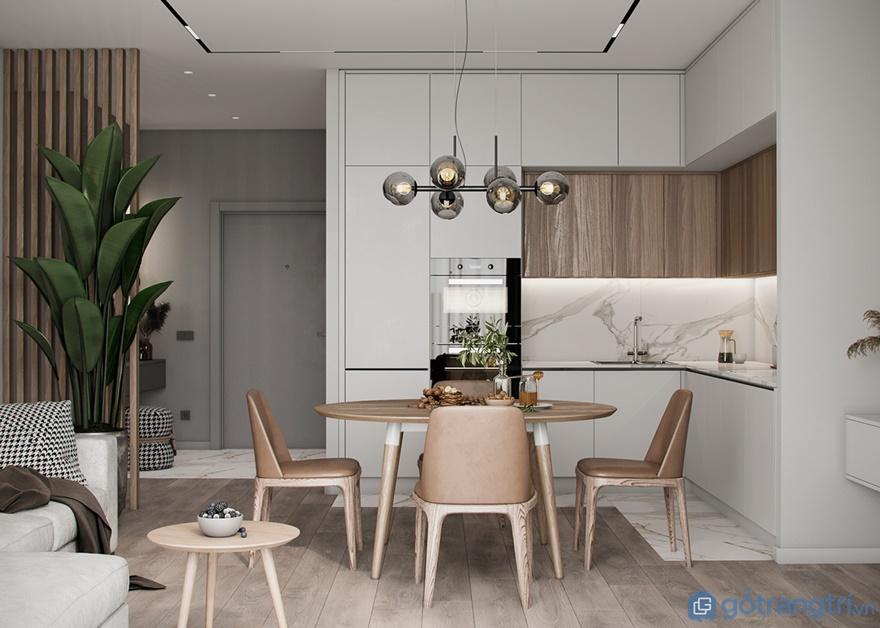 Thiết kế nội thất căn hộ 4 phòng ngủ Luxury Park Views: Phòng bếp