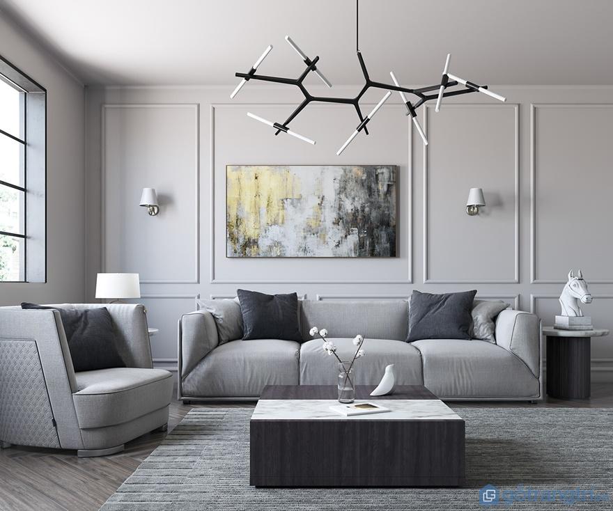 """""""Lịm tim"""" với thiết kế nội thất căn hộ 4 phòng ngủ Luxury Park Views"""