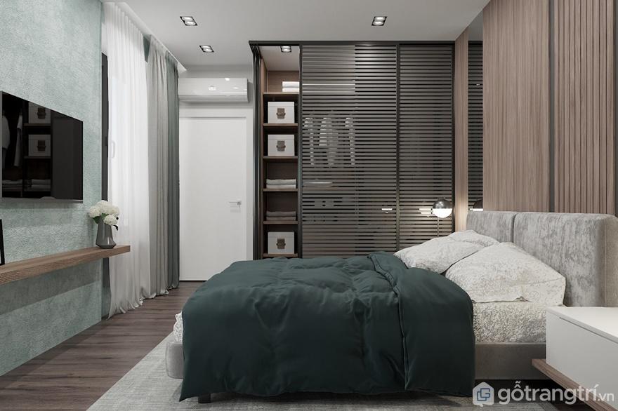 Thiết kế nội thất phòng ngủ tại Luxury Park Views rất sáng tạo, và thu hút ánh nhìn - Ảnh: Internet
