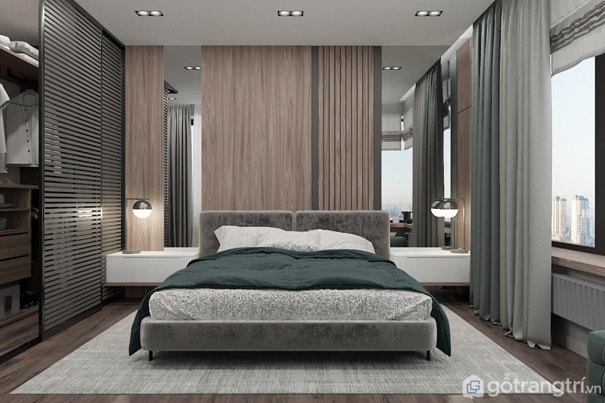 Phòng ngủ cạnh cửa số nên bố trí thêm rèm cửa để tránh những tia sáng độc vào buổi trưa