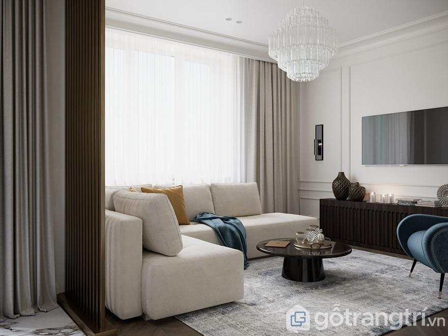 Phong cách nội thất hiện đại phòng khách