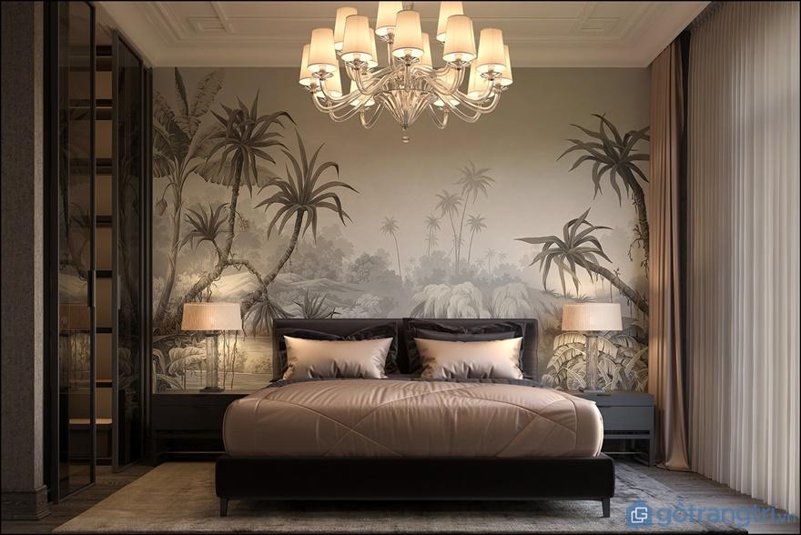 Phòng ngủngủ cho ông bà, bố mẹ được thiết kế nền nã và thiết kế thông với logia