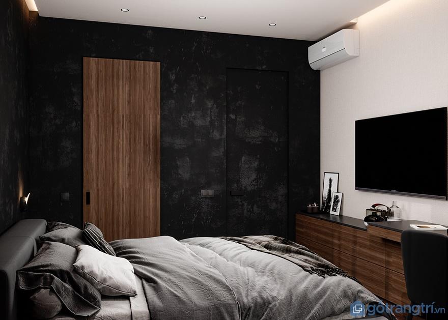 Ngoài ra phòng ngủ master còn được bố trí thêm điều hòa