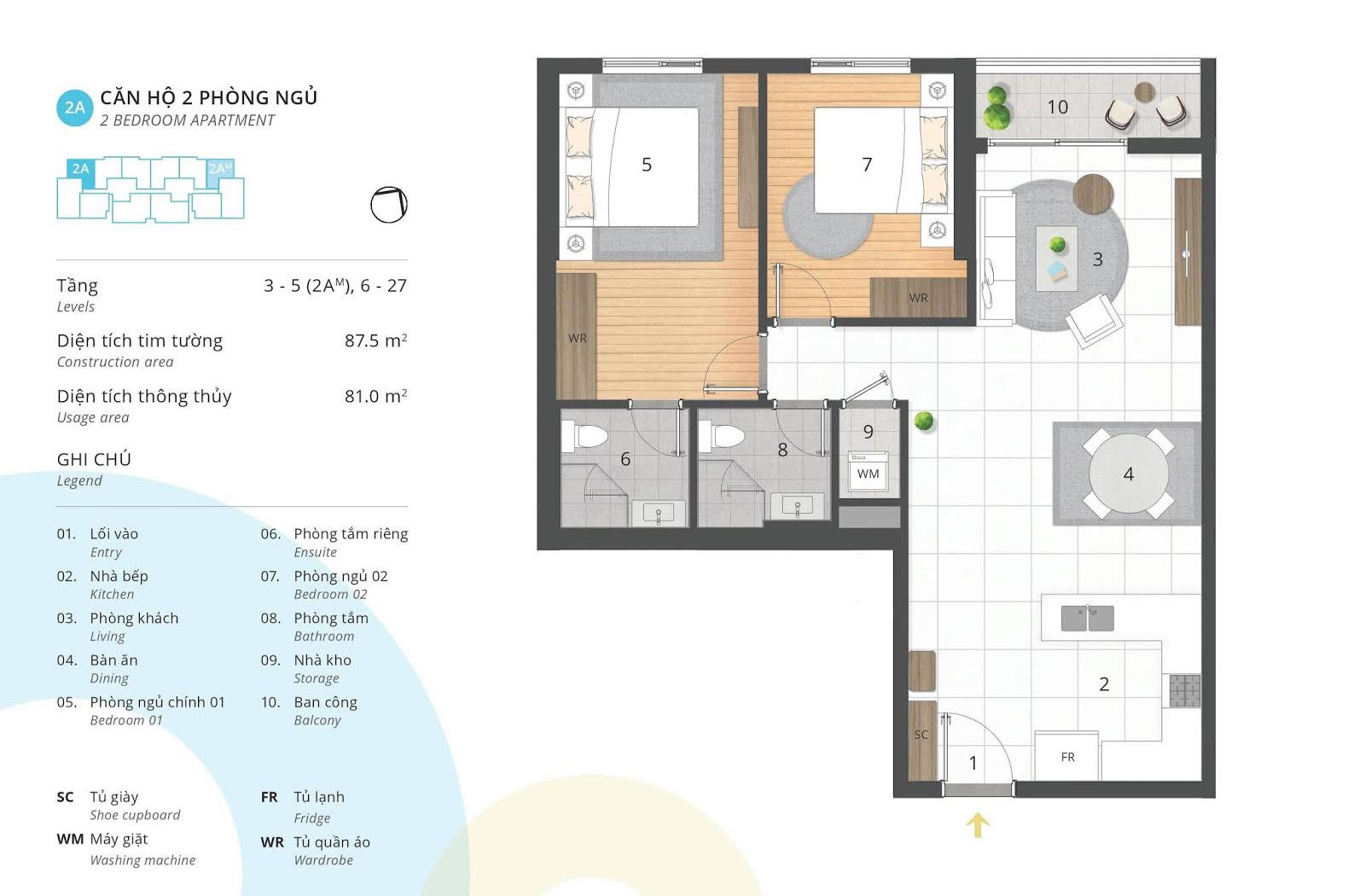 thiết kế nội thất chung cư Kosmo 81 m2
