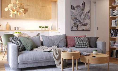 Thiết kế nội thất chung cư Kosmo Tây Hồ 81m2, 2 phòng ngủ