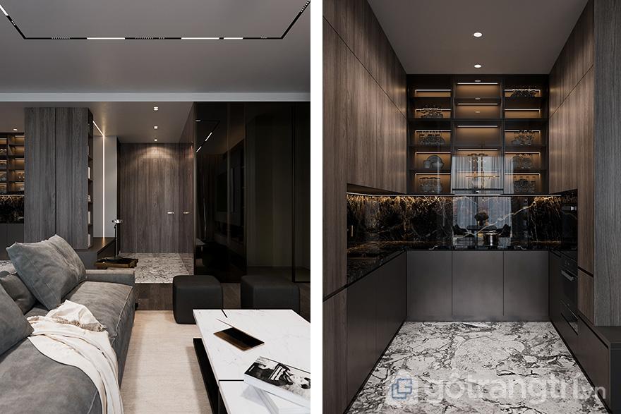 thiết kế nội thất căn hộ 85 m2