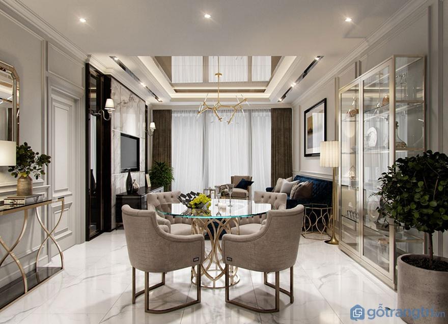 Thiết kế nội thất phòng khách căn hộ Luxury Park View - Ảnh: Internet