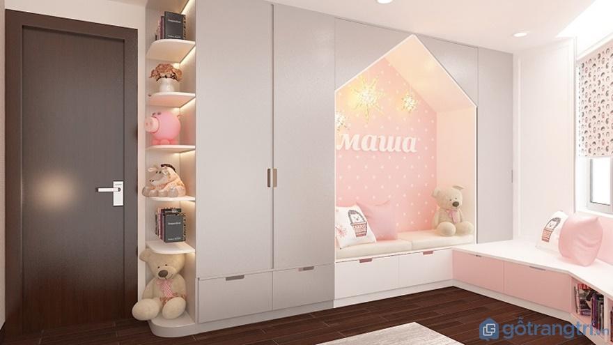 Tủ quần áo thiết kế sáng tạo như hình ngôi nhà - Ảnh: Internet
