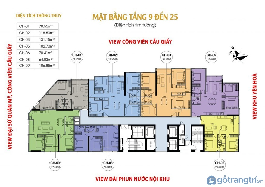 Thiết kế nội thất căn hộ Luxury Park Views hạng sang