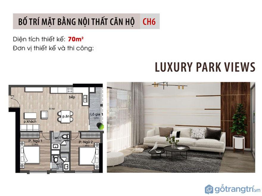Mặt bằng bố trí nội thất căn hộ Luxury Park View - Ảnh: Internet
