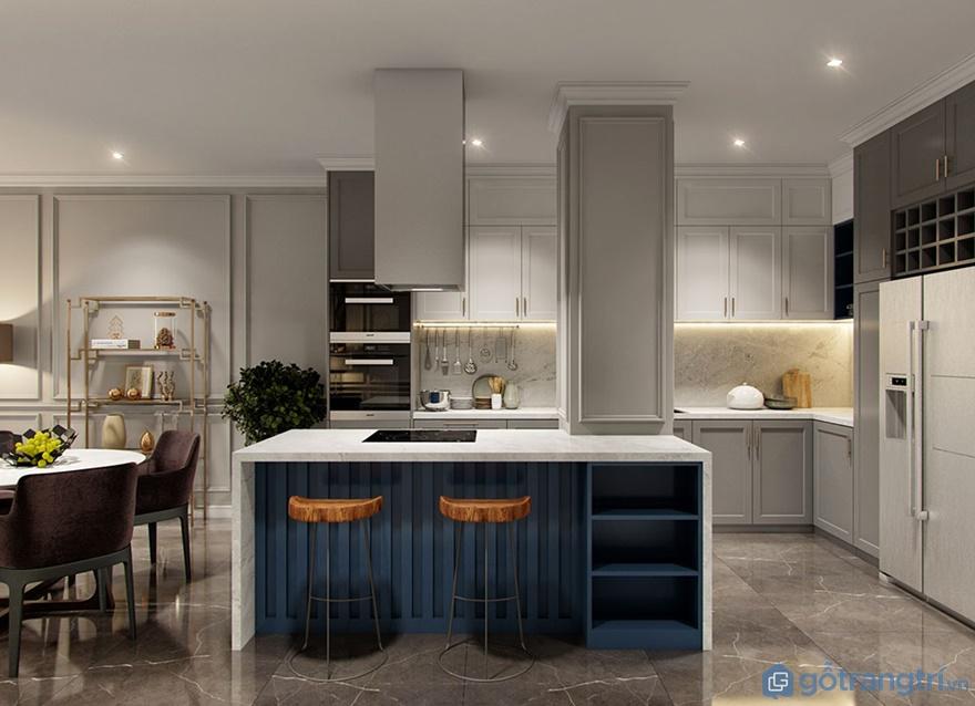 Thiết kế nội thất phòng bếp căn hộ Luxury Park View - Ảnh: Internet