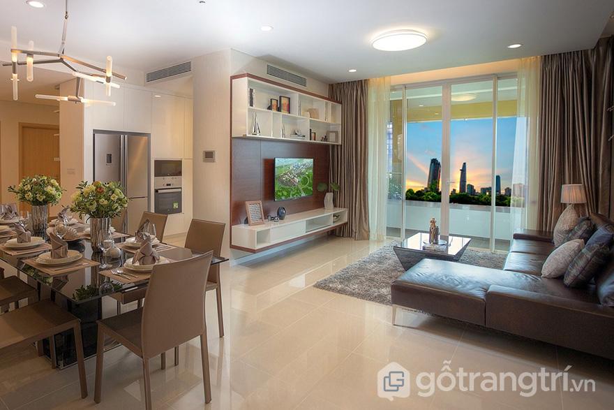 thiết kế nội thất căn hộ chung cư kosmo
