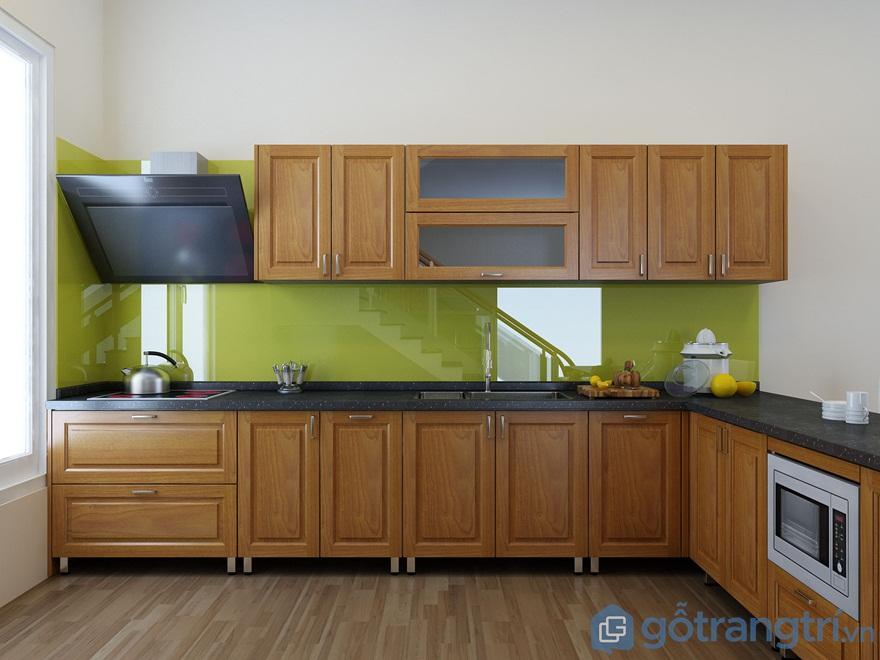 Tìm hiểu ưu và nhược điểm của tủ bếp gỗ sồi Mỹ
