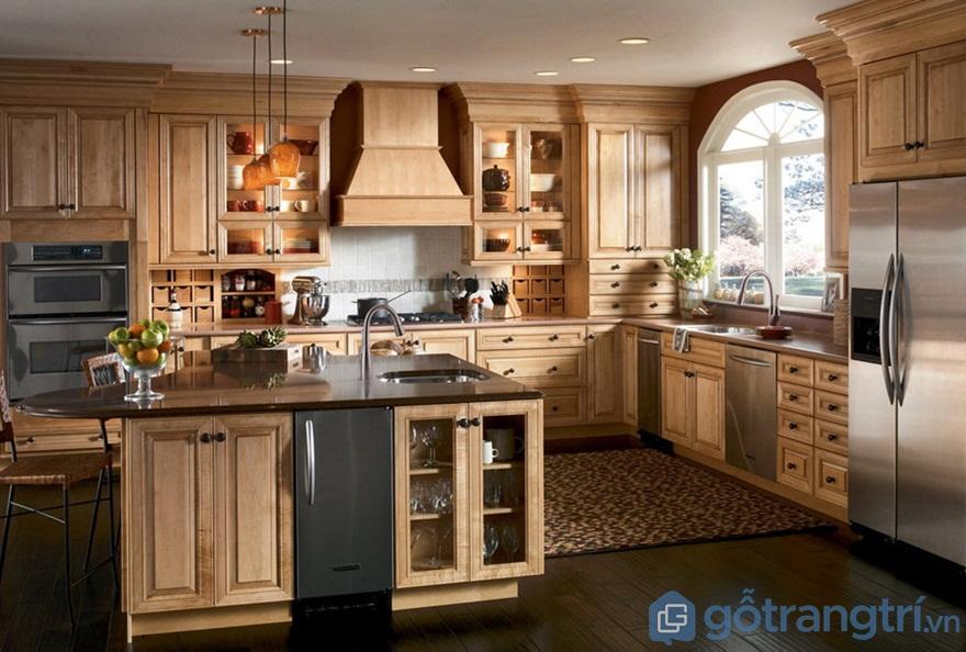 Hé mở ưu điểm và nhược điểm của tủ bếp gỗ sồi mỹ hiện nay