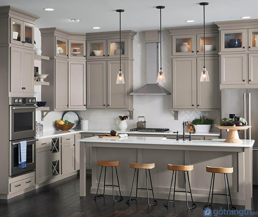 Tủ bếp laminate đẹp - Mẫu 03