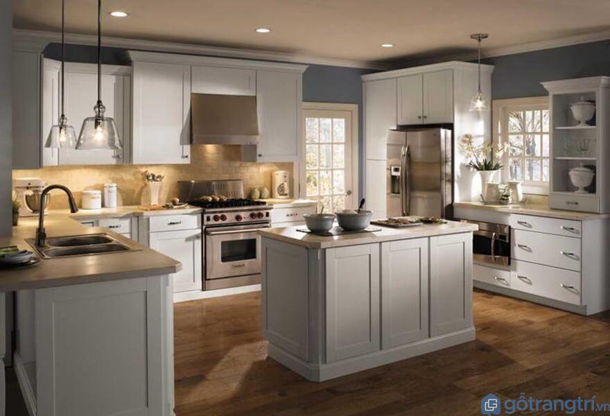 Tủ bếp laminate đẹp - Mẫu 04