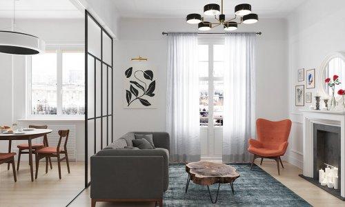 Thiết kế nội thất chung cư 160m2 D2 Giảng Võ nhà cô Duyên