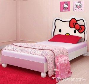 Giuong-ngu-cho-be-gai-hinh-Hello-Kitty-GHSB-229
