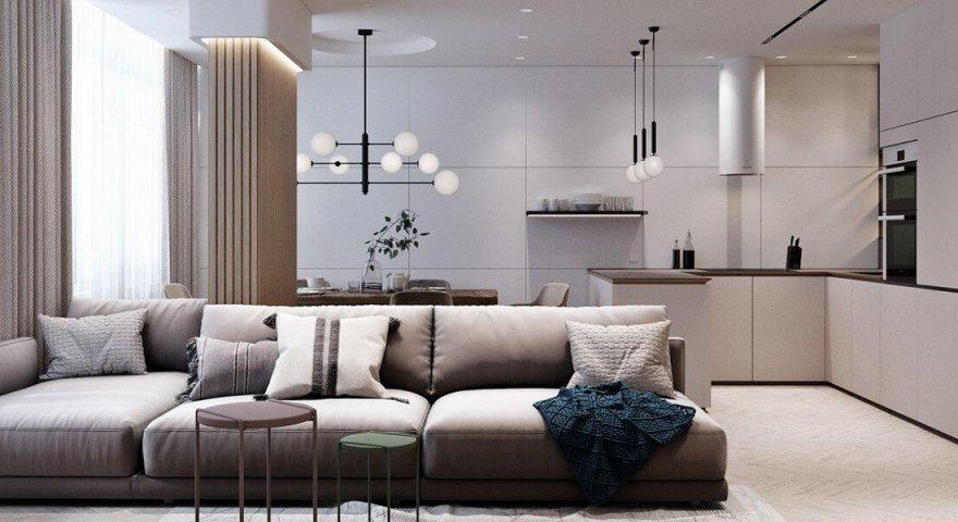 Thiết kế nội thất căn hộ Hateco Laroma 87m2 sang trọng, ấn tượng