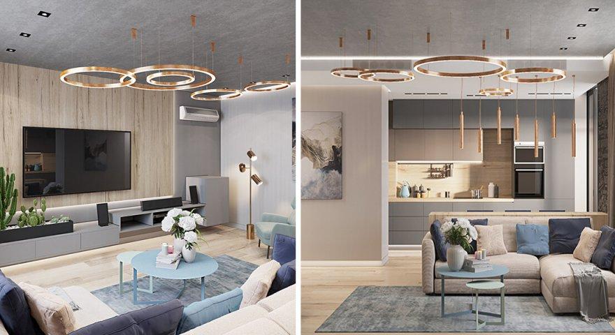 Thiết kế căn hộ Hateco Laroma 2 phòng ngủ đẹp như mơ