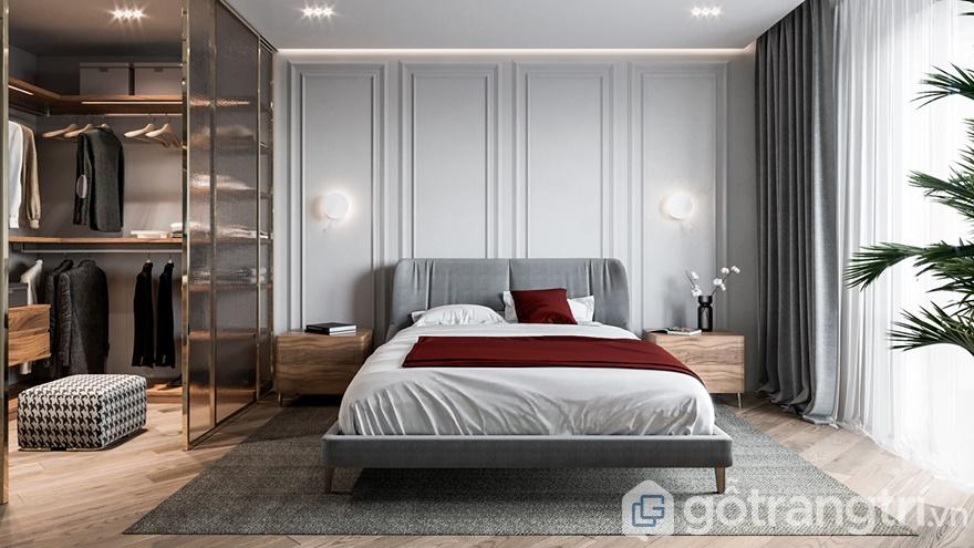 Phòng ngủ được thiết kế rộng rãi, thoáng đãng