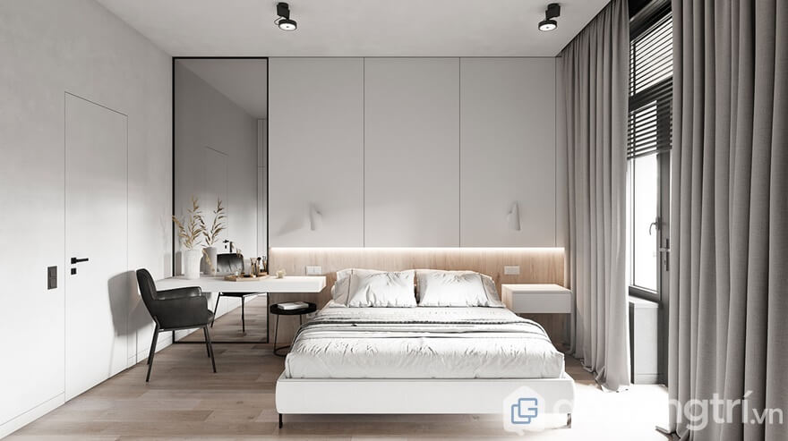 Phòng ngủ thiết kế tiện nghi, ấm áp