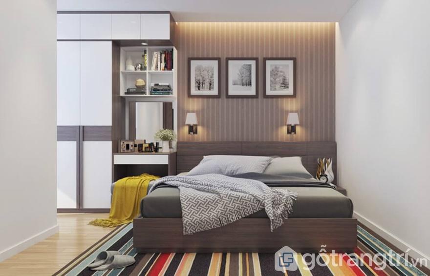 Phòng ngủ được trang trí vô cùng sáng tạo