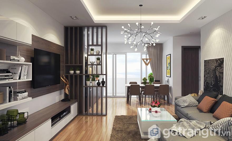 Thi công nội thất căn hộ Golden Park Tower hiện đại - Chị Chi